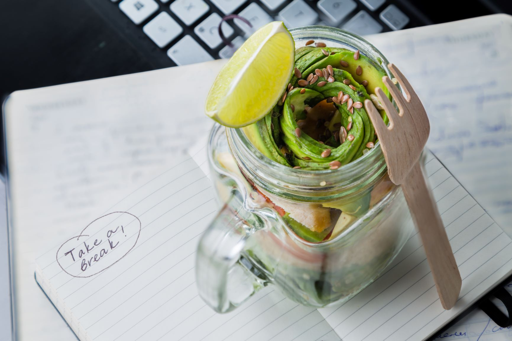 3. Canva - Healthy Lunch in Glass Jar