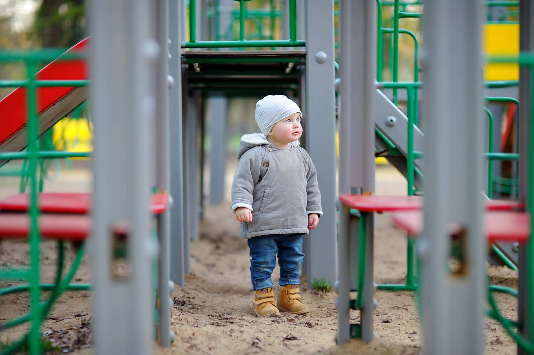 5. Canva - Toddler on Playground